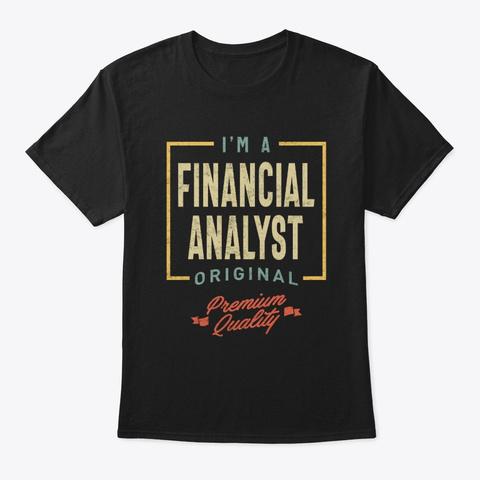 Financial Analyst Job Title Men Women  Black T-Shirt Front