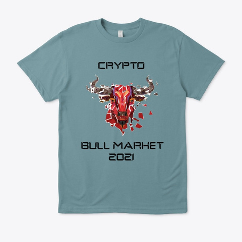Crypto Bull Market 2021 Heather Pacific T-Shirt Front