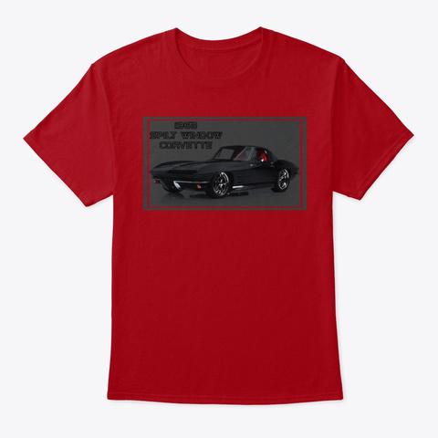 Classic Muscle Sport Car Tee Shirt Deep Red T-Shirt Front