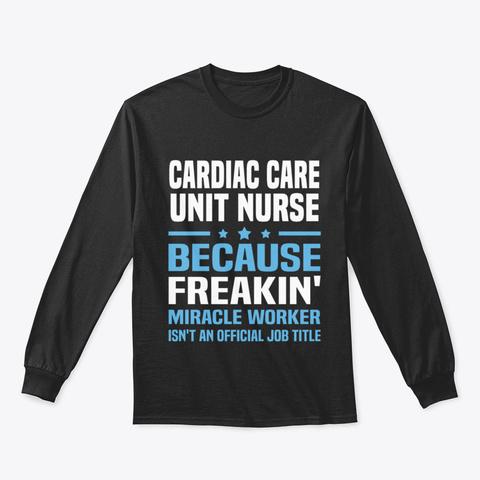 Cardiac Care Unit Nurse Y7dss Black T-Shirt Front