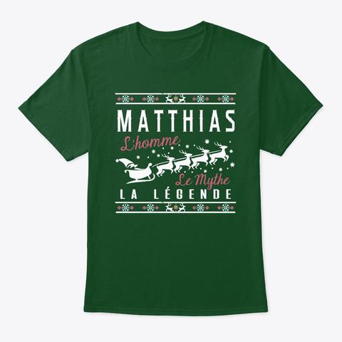 Christmas Gift Matthias La Légende Deep Forest T-Shirt Front