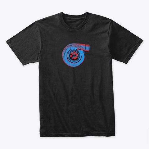 Nthefastlane Blue Red Turbocharger Black T-Shirt Front