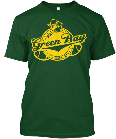 Green Bay Forest Green  T-Shirt Front