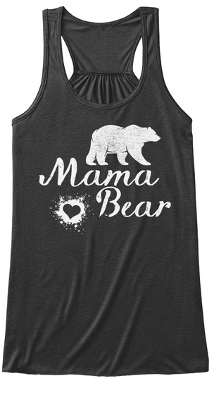 Mama Bear Dark Grey Heather T-Shirt Front