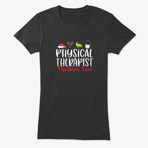 Christmas Nurse, Christmas Crew Vintage Black T-Shirt Front