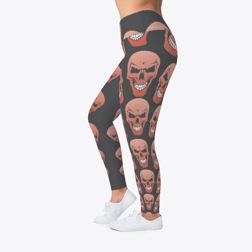 Funny Workout Skull Leggings Women/'s Print Fitness Stretch *Leggings* Yoga Pants
