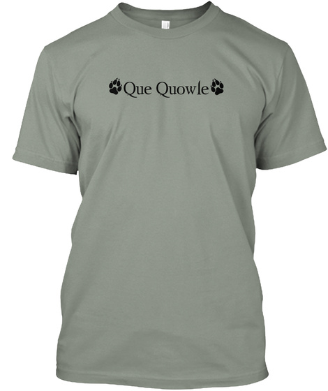 Que Quowle Grey T-Shirt Front