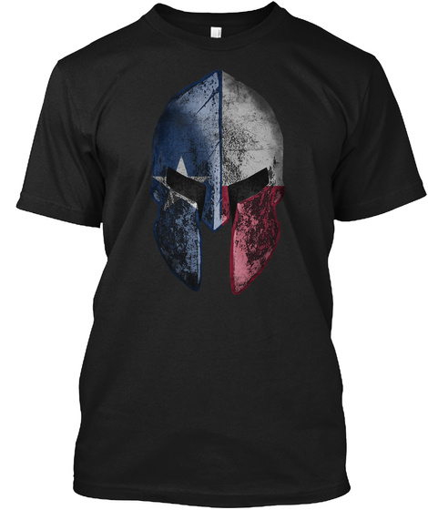 Texas Spartan Black T-Shirt Front