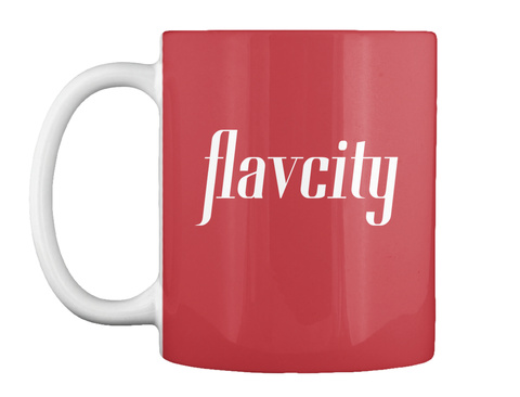 Flav City Mugs! Bright Red Mug Front