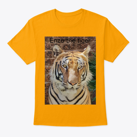 Enzo The Tiger T Shirt Gold T-Shirt Front