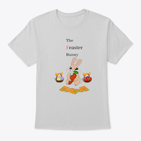The Feaster Bunny, Festivities,Christmas Light Steel T-Shirt Front