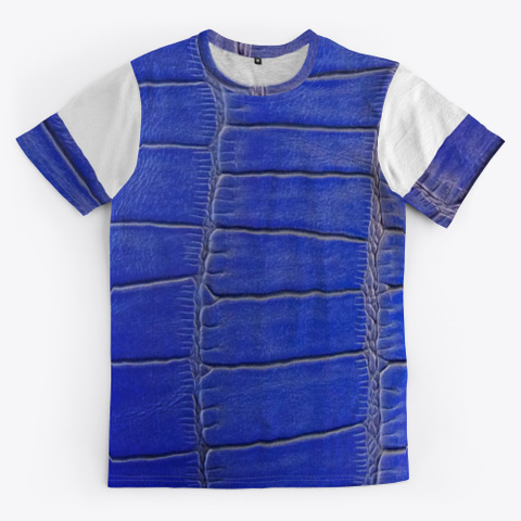 Blue Leather Pattern  Standard T-Shirt Front