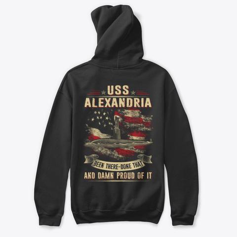 Uss Alexandria (Ssn 757) T Shirts Black T-Shirt Back