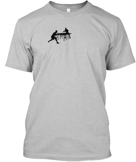 Ping Pong Ninja Funny Table Tennis Shirt Light Heather Grey  T-Shirt Front
