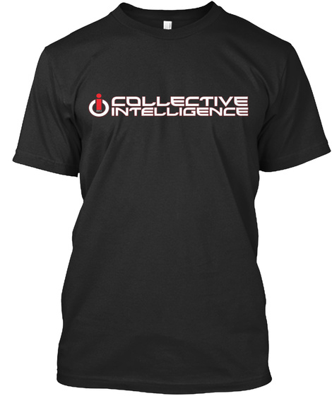 Collective Intelligence Black T-Shirt Front