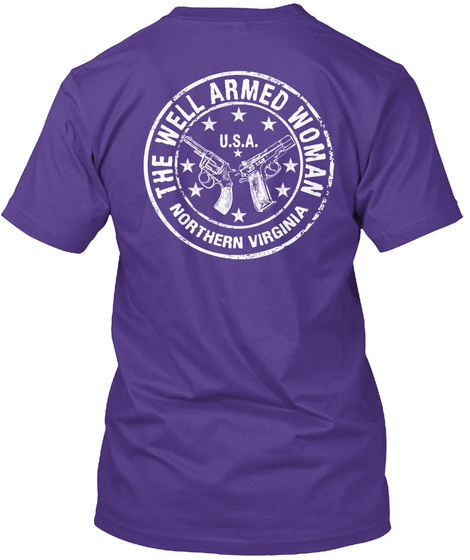 The Well Armed Woman U.S.A. Northern Virginia Purple T-Shirt Back