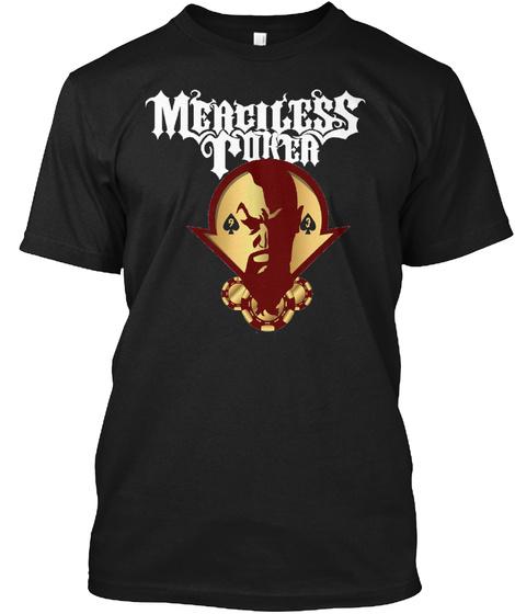Meaciless Poker Black T-Shirt Front