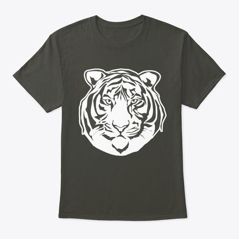 Graphic Tiger Smoke Gray T-Shirt Front