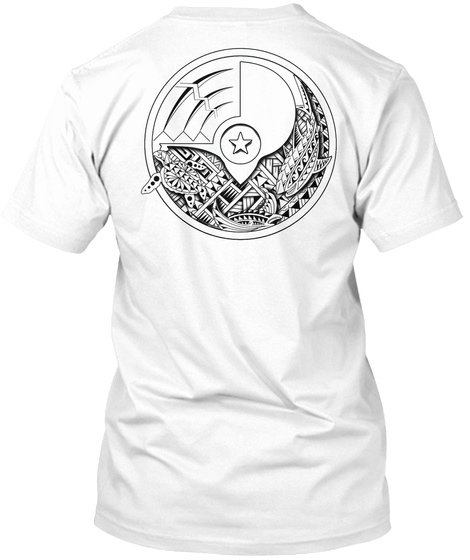 Yap Tribal Tattoo T Shirts White T-Shirt Back