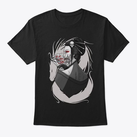 Geisha Black T-Shirt Front