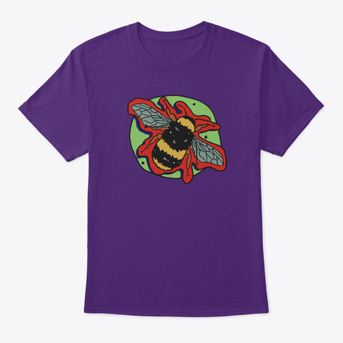 Vaporbee Purple T-Shirt Front