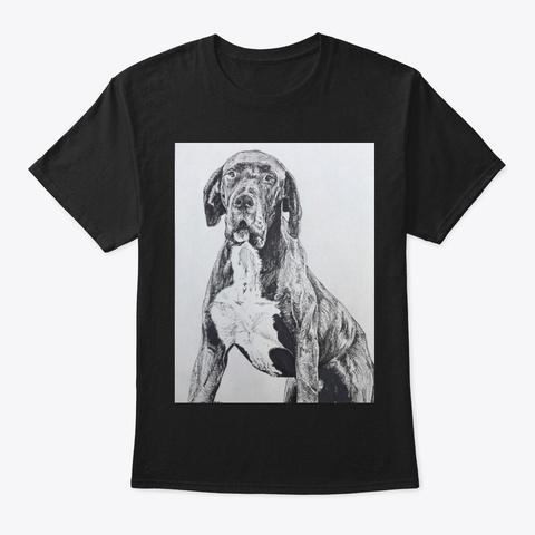 Great Dane 2 Black T-Shirt Front