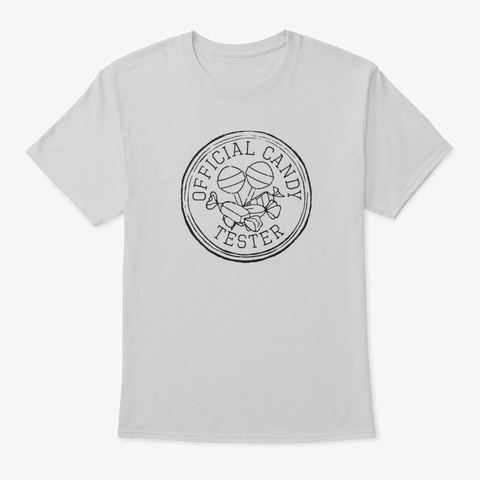 Official Candy Tester, Retro Candy Light Steel T-Shirt Front
