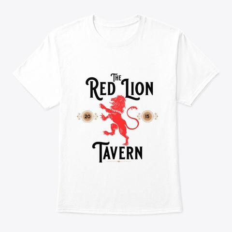 Red Lion Tavern Pub T Shirt White T-Shirt Front
