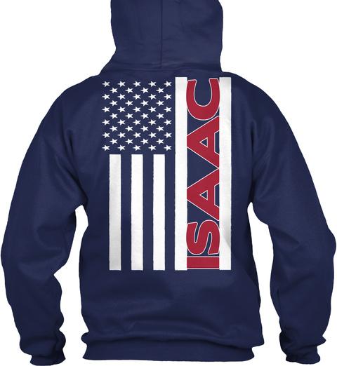 Isaac Navy T-Shirt Back