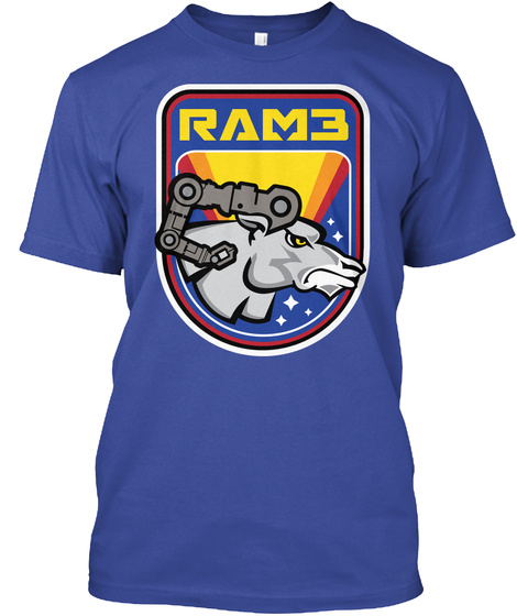 Ram3 Deep Royal T-Shirt Front