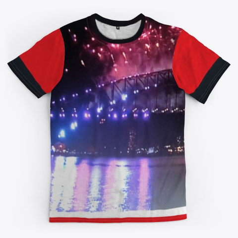 Sydney Australia New Year Eve 2020  Red T-Shirt Front