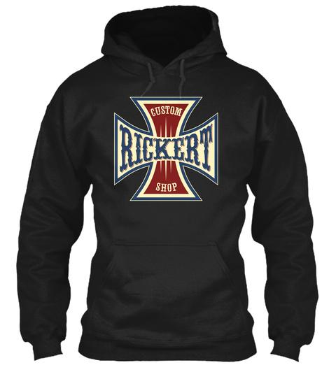 Rickert Custom Shop Black T-Shirt Front