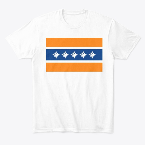 Albany Flag Merchandise White T-Shirt Front