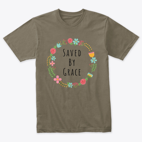 Saved By Grace Apparel  Venetian Gray T-Shirt Front