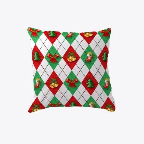 Ugly Christmas Sweater Pillow White T-Shirt Front
