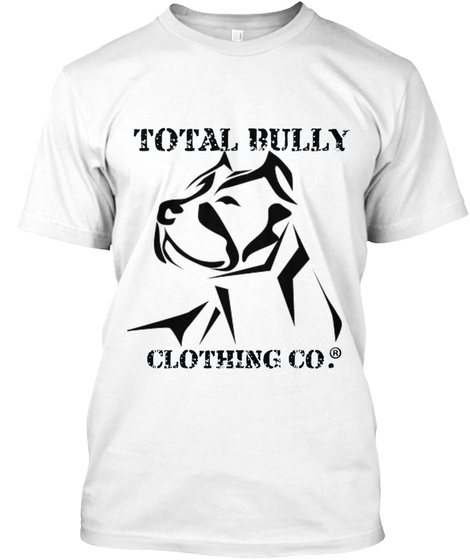 Total  Bully Clothing Co. White T-Shirt Front