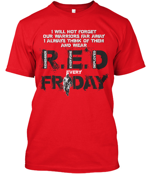 Red Friday Prayer For Our Soldiers! Red T-Shirt Front