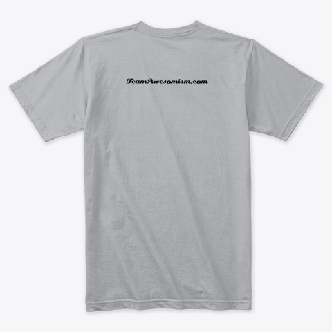 #Stay Home Heather Grey T-Shirt Back