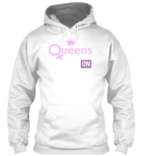 Queens Are Born On August 19 White T-Shirt Front