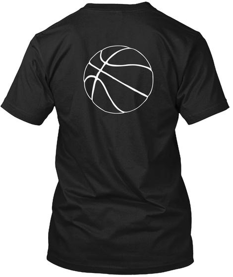 Basket Ball Black T-Shirt Back