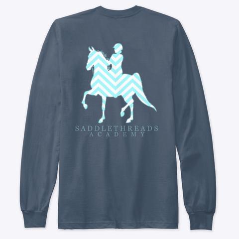 Academy   Chevron Indigo T-Shirt Back