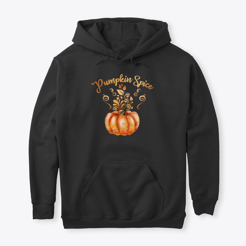 Pumpkin Spice Halloween Black T-Shirt Front