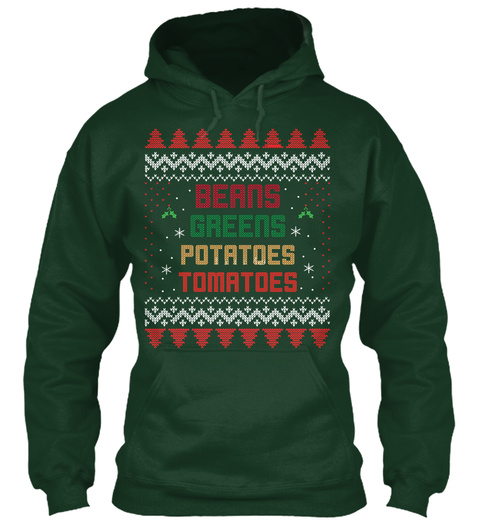 Thanksgiving Exclusive Christmas Ugly Forest Green T-Shirt Front