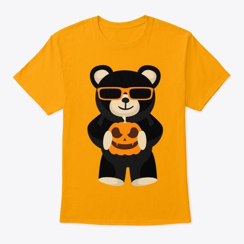 Cool Halloween Shirt Gold T-Shirt Front