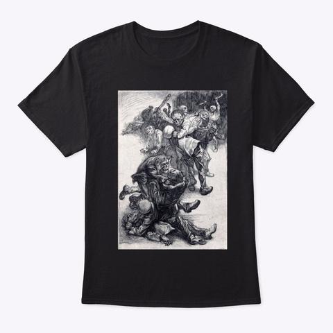 Vintage Zombie Undead Horror Graphic Black T-Shirt Front