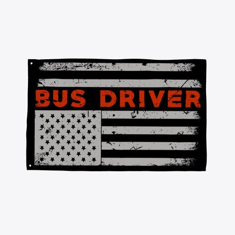 America Bus Driver  Flag Pride Black T-Shirt Front