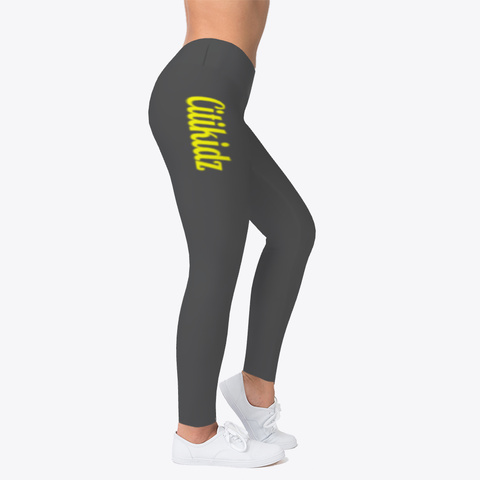 Citikidz (Yellow Font) Leggings Charcoal T-Shirt Right