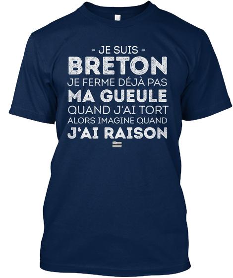 Je Suis Breton. Navy T-Shirt Front