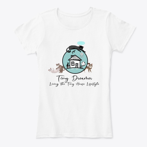 Tiny Dreamer With Cats White T-Shirt Front