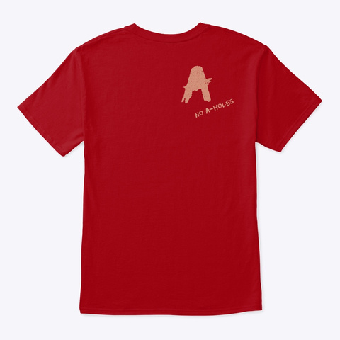 Imagine No A Holes™ Distressed (Mp) Deep Red T-Shirt Back